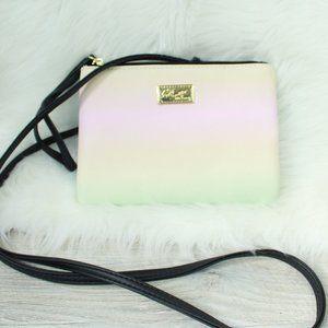Betsey Johnson Pastel Rainbow Crossbody Purse/Bag